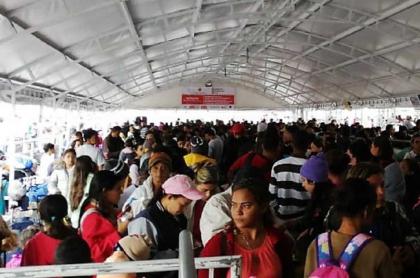 Venezolanos en Ipiales