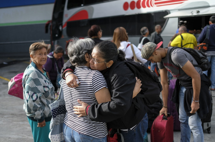 La llegada de Triztán a Caracas, desde Maracaibo