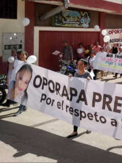Protesta por muerte de mujer en Oporapa