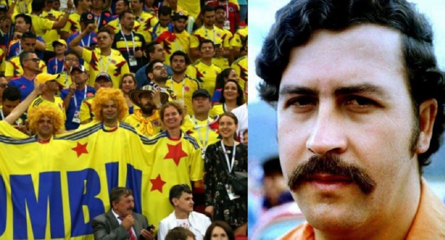Hinchas y Pablo Escobar