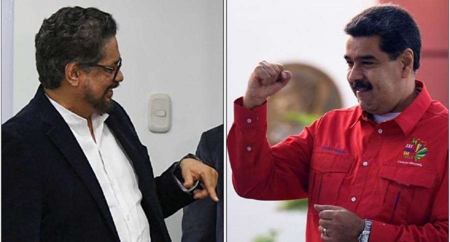 Alias 'Iván Márquez' y Nicolás Maduro
