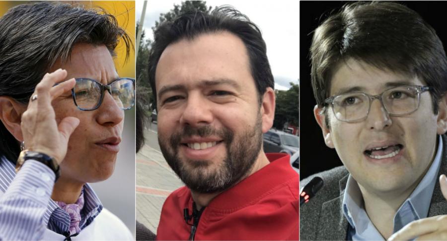 Claudia López, Carlos Fernano Galán y Miguel Uribe Turbay