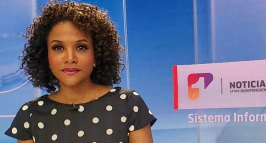 Mabel Lara, presentadora de Noticias Uno
