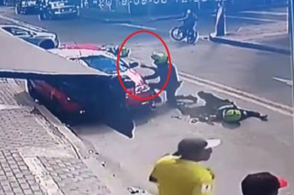 Accidente de policías en Bogotá