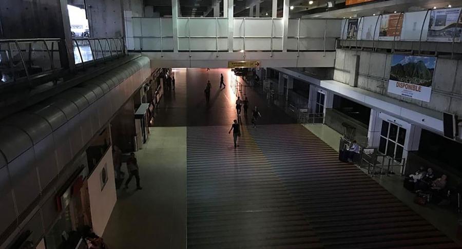 Aeropuerto Internacional Simón Bolívar, en Maiquetía.