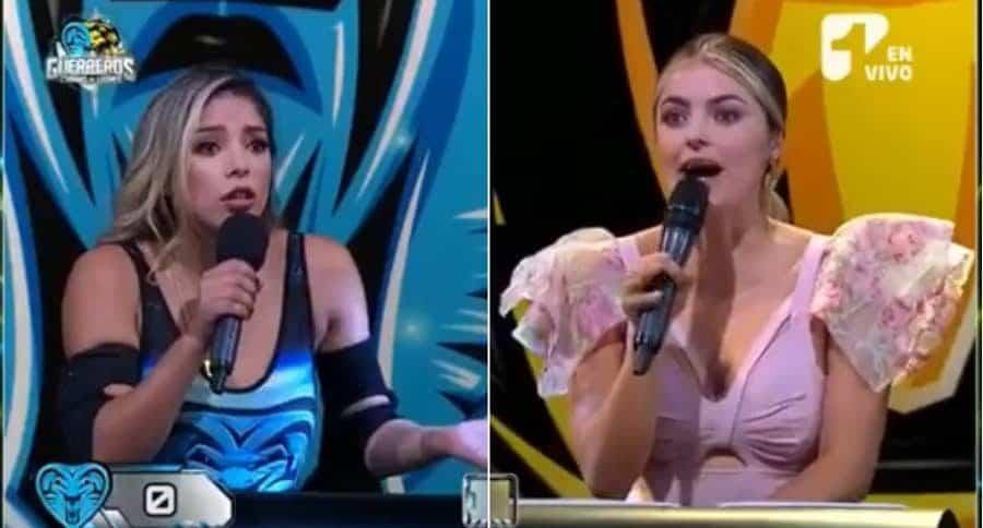 Dahian Muñoz, participante de 'Guerreros', y Cristina Hurtado, presentadora.