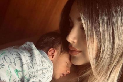 Melina Ramírez y su hijo Salvador