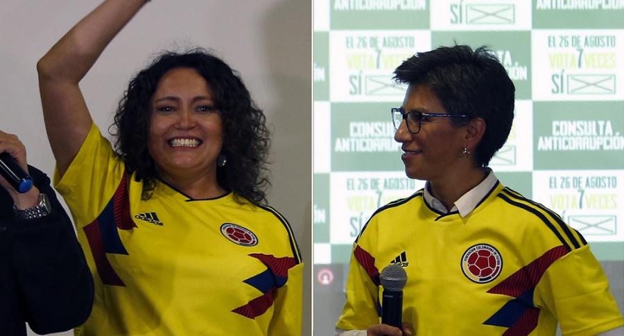 Angélica Lozano y Claudia López, políticas.