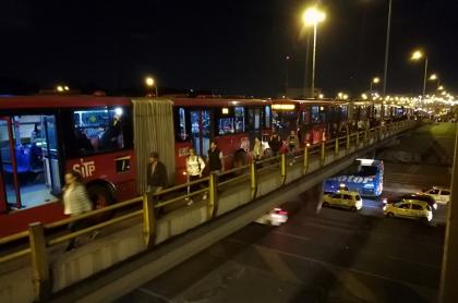 Protestas en Transmilenio