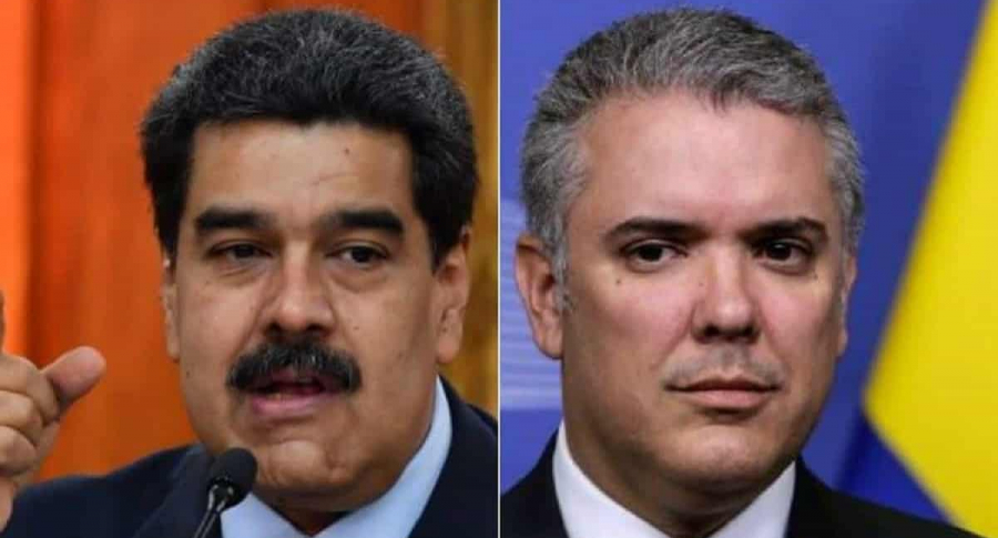 Nicolás Maduro e Iván Duque