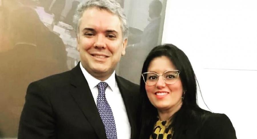 Iván Duque y Claudia Bustamante