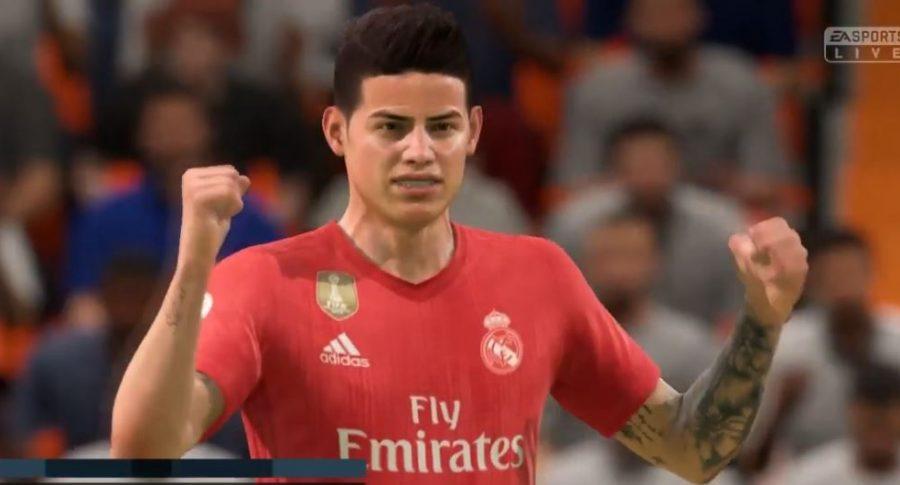 James Rodríguez en videojuego Fifa