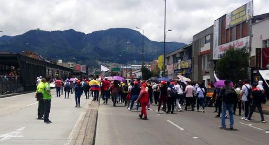Marchas de maestros en Bogotá