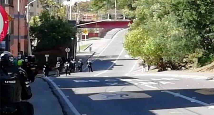 Disturbios en la Universidad Distrital.