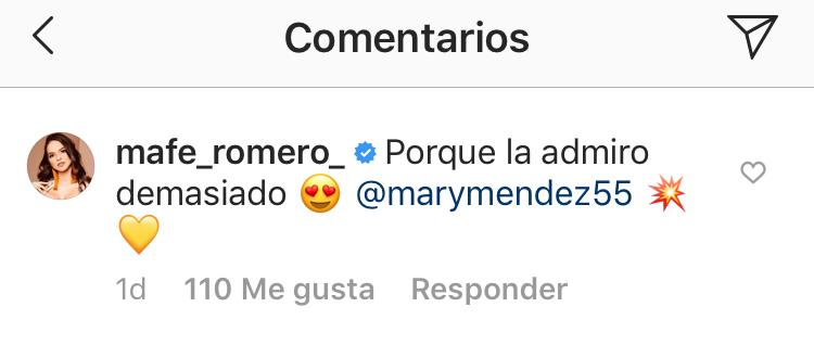 Comentario de 'Mafe' Romero