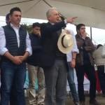Álvaro Uribe en La Calera