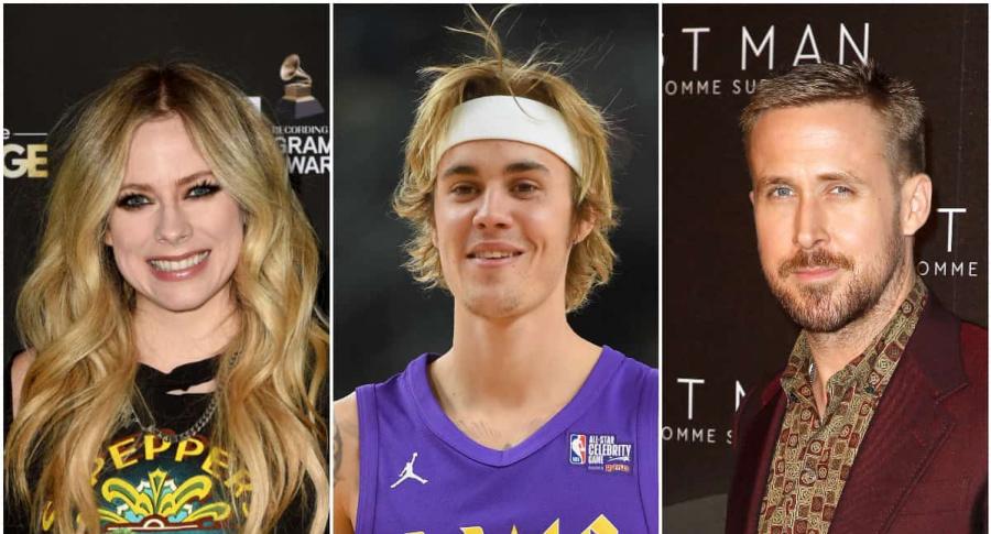 Avril Lavigne, Justin Bieber y Ryan Gosling