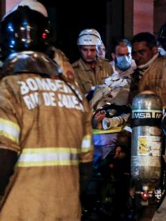 Incendio en hospital de Río de Janeiro