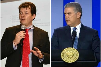 Víctor Muñoz e Iván Duque
