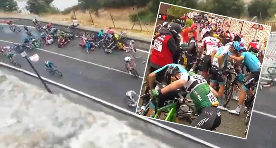 Caída en Vuelta a España