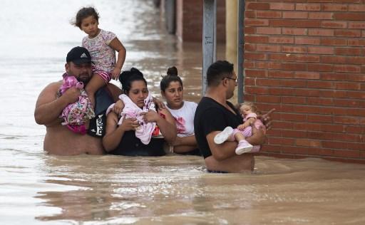 Inundaciones en el sur de España