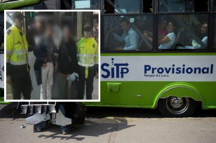 Capturados por robar en SITP provisional