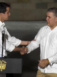 Guaidó le agradece a Duque por recibir a los millones de venezolanos desplazados