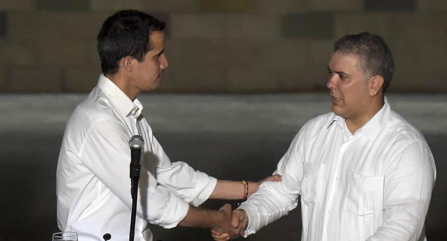 Juan Guaidó e Iván Duque