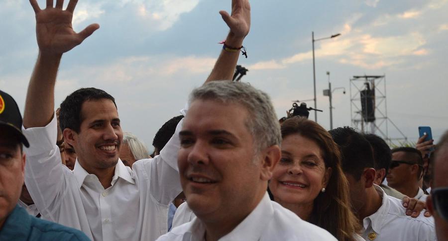 Juan Guaidó, Iván Duque y Marta Lucía Ramírez