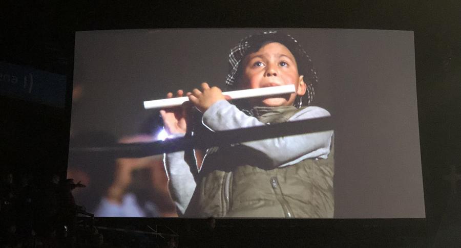 Niño flautista del concierto de  André Rieu.