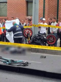 Otro accidente de tránsito en Bogotá deja un motociclista muerto y dos personas heridas