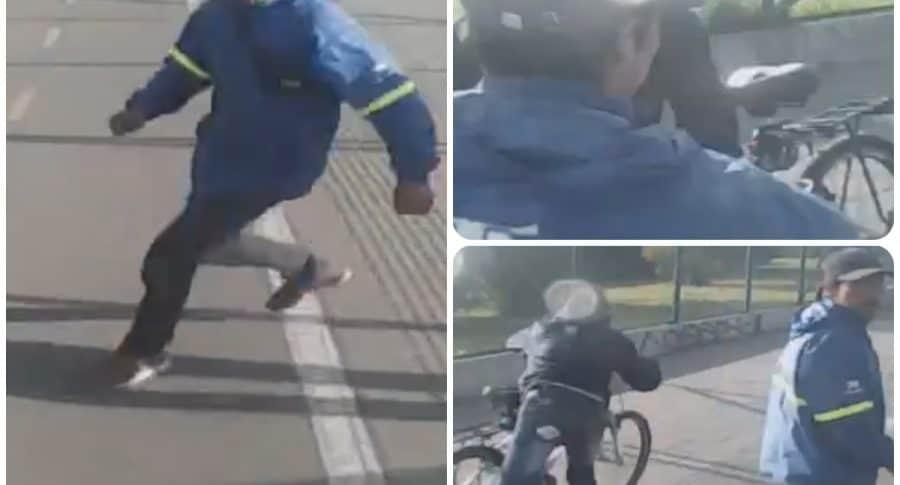 Robo de bicicleta en Bogotá.