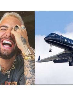Maluma y su nuevo avión