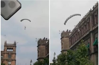 Paracaidista se accidenta, en México.