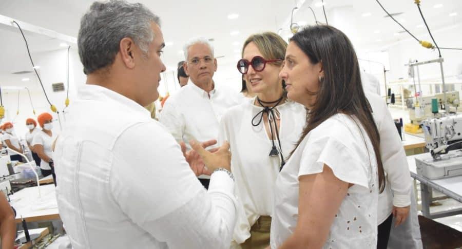 Iván Duque, Silvia Tcherassi y Karen Abudinen