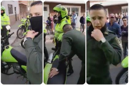 Captura de falso policía en Bogotá.