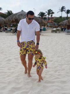 Juan Diego Alvira, presentador, con su hija María del Mar.