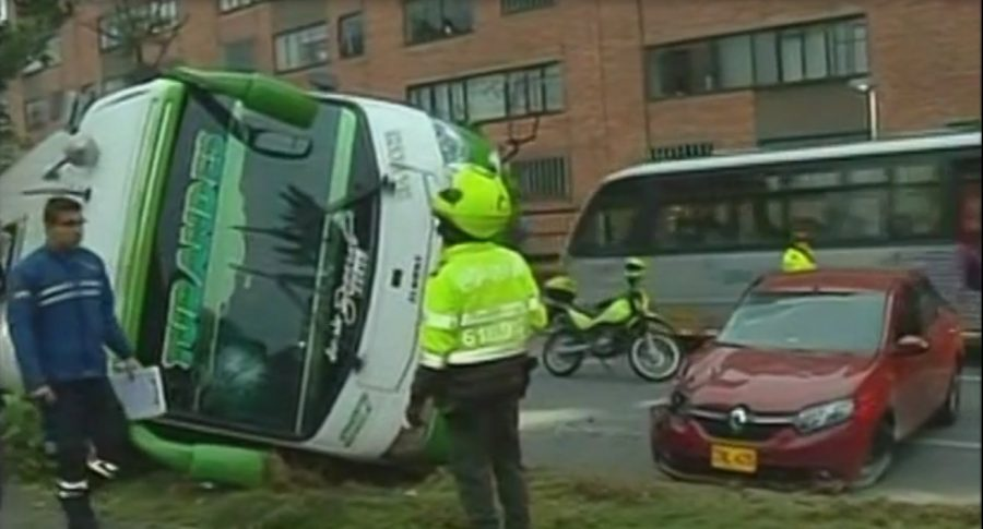 Accidente en calle 127