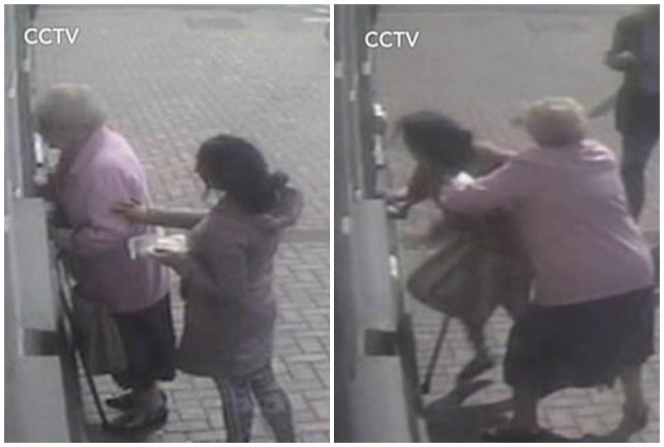 Abuela se defiende de ladrona.