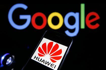 Logos de Huawei y Google