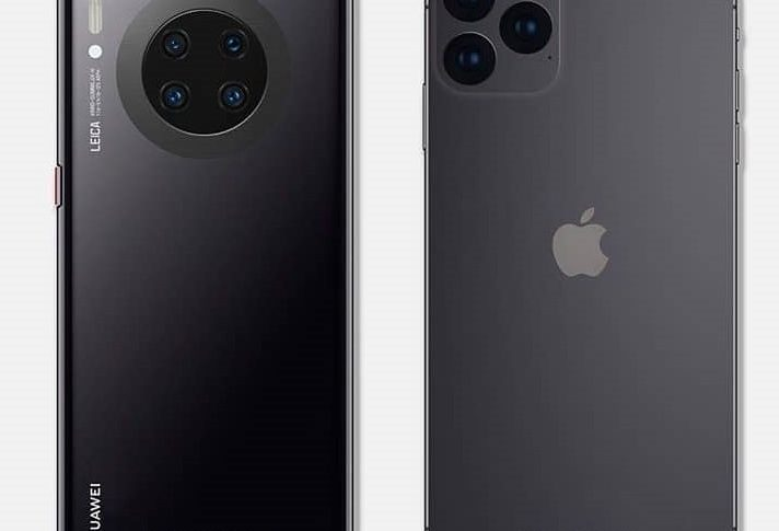 iPhone 11 Pro y Huawei Mate 30 Pro