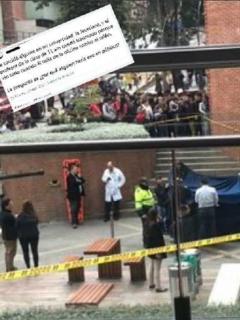 """""""El profesor quedó traumado"""": relato sobre joven que cayó de edificio en la Javeriana"""
