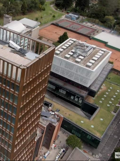 Vista aéreas de la Universidad Javeriana