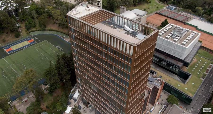 Vista aéreas de la Universidad Javeriana