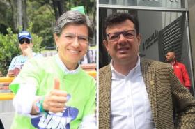 Claudia López y Hollman Morris