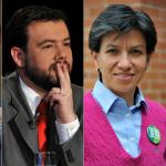 Hollman Morris, Miguel Uribe, Carlos Fernando Galán y Claudia López, candidatos a la Alcaldía de Bogotá.
