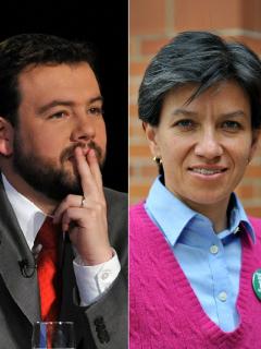 Reacción de candidatos de Bogotá a pregunta de a quién prefieren de alcalde si no ganan