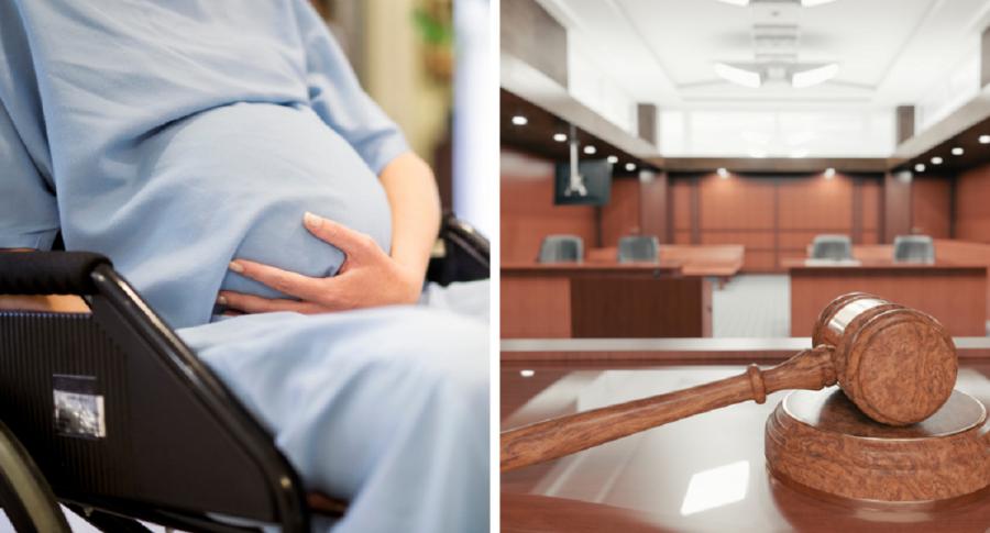 Mujer embarazada - Juzgado