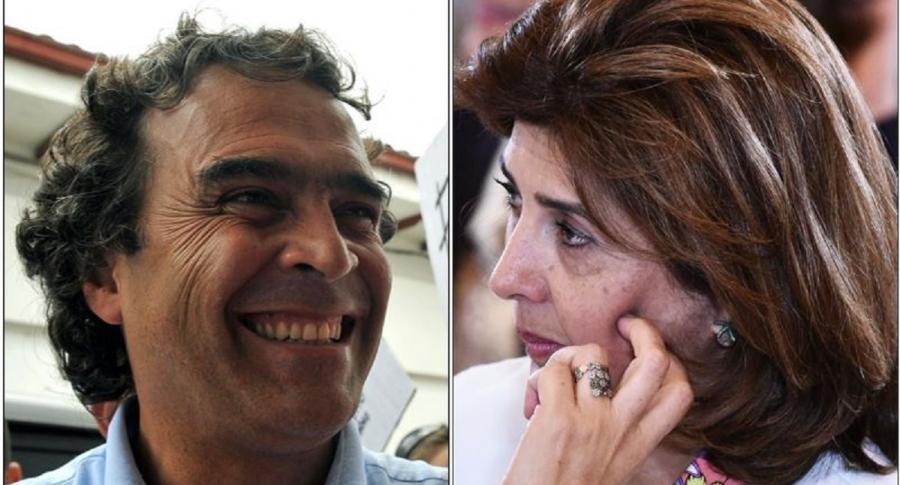 Sergio Fajardo y María Ángela Holguín