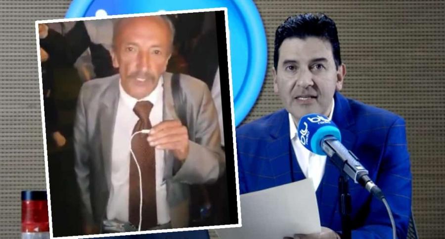 Hernando Chávez, promotor del paro, y Néstor Morales